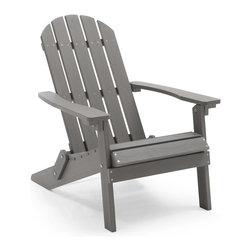 "Coral Coast Faux Wood Adirondack Chair, Gray - The classic Adirondack chair just screams ""relax here!"" I like that this one is made of recycled plastic, so it'll last you for years to come, without the need of a new paint job."