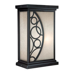 """Vaxcel - 6"""" Outdoor Wall Light - Vaxcel Lighting PO-OWD060NB Prosecco Outdoor Sconce This item by Vaxcel Lighting is offered in a noble bronze finish. It is available with amber seeded"""