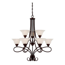 Oxford 9 light chandelier a dramatic bold design which for Mediterranean lighting fixtures