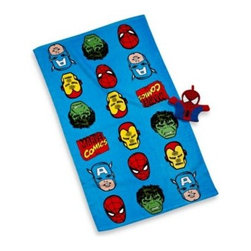 """Disney - Disney Marvel Heroes """"Super Heroes"""" Bath Towel and Wash Mitt Set - The Marvel Heroes """"Super Heroes"""" Bath Towel and Wash Mitt Set is a great way to get the kids to want to take a bath. Featuring classic Marvel super heroes images, the 2-piece set includes a ultra soft towel and shaped wash mit."""
