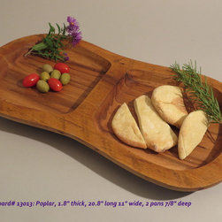 Hand-Carved Poplar Serving Board $70 SOLD - Functional & Beautiful. These pieces strike a balance between Beauty & Utility, Old & New, Rustic & Refined. Food-bearing surface is smooth, solid & practical. Clean with warm soapy water. FREE 4oz container of 100% FoodSafe BeesWax & Mineral Oil Conditioner with each purchase.