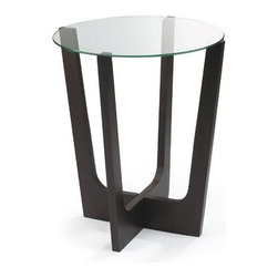 "Umbra - Stellar End Table - Features: -Star attraction in any modern living room.-Constructed of MDF with circular glass top.-Top Finish: Clear glass.-Distressed: No.-Powder Coated Finish: No.-Gloss Finish: No.-Base Material: Wood.-Top Material: Glass.-Solid Wood Construction: No.-Number of Items Included: 1.-Hardware Material: Stainless steel.-Nesting Tables: No.-UV Resistant: No.-Scratch Resistant: No.-Stain Resistant: No.-Lift Top: No.-Storage Under Table Top: No.-Drop Leaf Top: No.-Magazine Rack: No.-Built In Clock: No.-Drawers Included: No.-Exterior Shelves: No.-Cabinets Included: No.-Glass Component: Yes -Beveled Glass: No.-Frosted Glass: No..-Legs Included: Yes -Number of Legs: 4.-Leg Type: Modern..-Casters: No.-Lighted: No.-Stackable: No.-Reclaimed Wood: No.-Adjustable Height: No.-Outdoor Use: No.-Swatch Available: No.-Commercial Use: No.-Recycled Content: No.-Eco-Friendly: No.-Product Care: Wipe clean with dry cloth.-Built In Outlets: No.-Cable Management: No.-Powered: No.Specifications: -FSC Certified: No.-EPP Compliant: No.-CARB Compliant: No.-ISTA 3A Certified: No.-ISTA 1A Certified: No.-General Conformity Certificate: No.-Green Guard Certified: No.-ISO 9000 Certified: No.-ISO 14000 Certified: No.-UL Listed: No.Dimensions: -Overall Height - Top to Bottom: 21.5"".-Overall Width - Side to Side: 18"".-Overall Depth - Front to Back: 18"".-Table Top Thickness: .75"".-Table Top Width - Side to Side: 18"".-Overall Product Weight: 10.15 lbs.-Legs: Yes.-Table Top Depth - Front to Back: 18"".Assembly: -Assembly Required: Yes.-Tools Needed: None.-Additional Parts Required: No.Warranty: -Product Warranty: Lifetime warranty against defects."