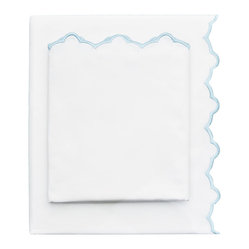 Light Blue Embroidered Sheet Set