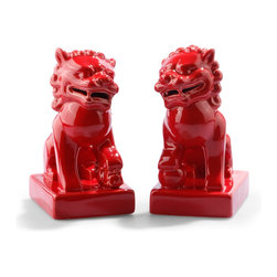 Foo Dogs, Red - You know you need a pair of red foo dogs for the holidays — and for every day. These would be great on the mantel dressed with greenery.