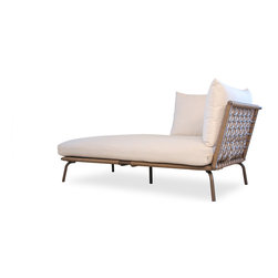 Lloyd Flanders SoHo Chaise Lounge - Lloyd Flanders SoHo Chaise Lounge (35.5 W) provides a contemporary, comfortable flair to your patio, pool or deck, finished with your choice of custom vinyl.