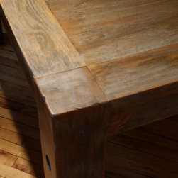 """Reclaimed Wood Dining Room Tables - 60"""" reclaimed white oak table"""