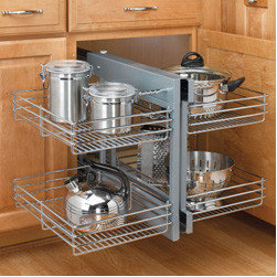 Cabinet Accessories - Blind Corner Optimizer - Unhanded  - Chrome Wire