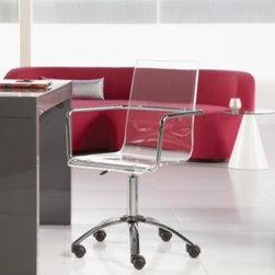 Chloe - Acrylic Office Chair w/ Casters -