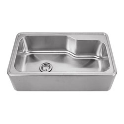 Whitehaus - Whitehaus Whnapb3016 Noah's Single Bowl Sink - single bowl drop-in sink with a seamless customized front apron