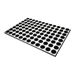 Radius Design - Feet-Back I Door Mat, Black - With 96 cleaning brushes the Feet-Back I Doormat is a truly efficient sole cleaner suitable for indoor and outdoor use. Moreover, the base is made of high-quality stainless steel, which lends the mat an attractive appearance.