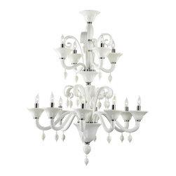 Cyan Design - Cyan Design Twelve Lamp Chandelier in White - Twelve Lamp Chandelier in White