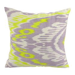 Hand Woven Ikat Pillow Cover A404-1ab1 - Ikat pillow cover constructed from hand woven Ikat fabric from Uzbekistan.