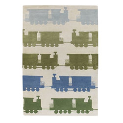 """Chandra - Kids Kids 7'9""""x10'6"""" Rectangle White-Grey Area Rug - The Kids area rug Collection offers an affordable assortment of Kids stylings. Kids features a blend of natural White-Grey color. Hand Tufted of New Zealand Wool the Kids Collection is an intriguing compliment to any decor."""