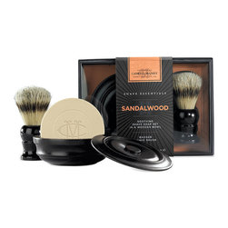 Frontgate - Caswell-Massey Sandalwood Shave Soap & Brush Set - 3.3 oz. triple-milled shave soap in wooden bowl. Pure grey badger shave brush. Not tested on animals. Paraben, sulfate, and phthalate free. Made in the USA. An excellent gift for any man, the Caswell-Massey Shave Sampler prepares the beard for an incomparably close, comfortable shave. The gift includes moisturizing shave soap with an elegant shave brush, which leaves skin soft, smooth, and extra moisturized. . . . . .