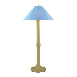 """Patio Living Concepts - Patio Living Concepts Catalina 62 Inch Floor Lamp w/ 3 Inch Bisque Body & Sky Bl - 62 Inch Floor Lamp w/ 3 Inch Bisque Body & Sky Blue Sunbrella Shade Fabric belongs to Catalina Collection by Patio Living Concepts Carefree durability while adding a touch of style to any outdoor living area. Catalina Floor Lamp 39684 features a 3"""" bisque body, heavy weighted base and sky blue Sunbrella shade fabric. 12 ft. weatherproof cord and plug. Two level dimming switch. Model # 39684 Lamp (1)"""