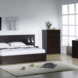 Elegant Quality Modern Bedroom Sets with Extra Storage - Modern ergonomic comfort 5 piece straight lines bedroom set. The Sofia Bedroom set is a revolution in style and decor.