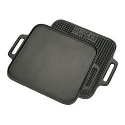 Bayou Classic - Bayou Classic Cast Iron 14-inch Reversible Griddle - Cook your food with ease in this handy reversible griddle that comes with a pre-seasoned surface. This versatile 14-inch griddle can be conveniently hand washed in soapy water,and is oven safe in high temperatures up to 750 degrees Fahrenheit.
