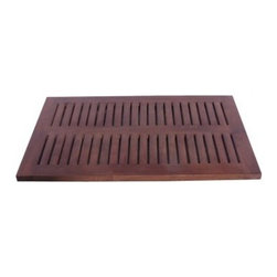 Decoteak Teak Spa Shower and Floor Mat - About DecoteakTeak is unique among woods in that it's naturally water-, mold-, and mildew-resistant on account of its high density and high oil content. DecoTeak is dedicated to bringing this high-end wood into your home in ways where it will be both beautiful and functional. Their lines of shower benches, stools, and other bathroom accessories is designed to add maximum comfort and convenience to your personal space.