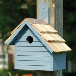 Cape Cod Wren House - The Cape Cod Wren House features a charming New England design with a beautiful shingled roof, copper trim and your choice of rich, semi-transparent finish.