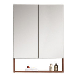 """Fine Fixtures - Fine Fixtures Greenpoint 20"""" White Mirror, Black Walnut, 24"""" - Looking for an affordable set that doesn't look affordable? Then Greenpoint is the collection for you. Beautifully constructed and nicely appointed, it infuses your home with modern styling at a price point that is surprisingly contemporary. Highlights include thin handles of brushed aluminum with matching brushed legs, as well as two highly desirable color choices. There's no skimping on the sink basin either, with a grade AAA vitreous china sink that's super slim and precisely fitted."""