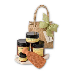 Gilden Tree - Ultimate Organic Foot Care Kit - The ultimate foot care kit with 4 oz of pure Shea Butter Balm - it's a wonderful home spa gift set!
