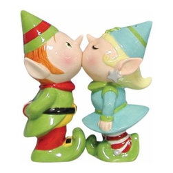 WL - 3.75 Inch Green/Blue Elves Kissing on Mouth Salt and Pepper Shakers - This gorgeous 3.75 Inch Green/Blue Elves Kissing on Mouth Salt and Pepper Shakers has the finest details and highest quality you will find anywhere! 3.75 Inch Green/Blue Elves Kissing on Mouth Salt and Pepper Shakers is truly remarkable.