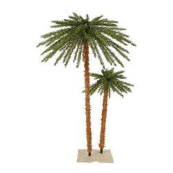 6 ft. Artificial Pre-Lit Christmas Palm Tree Set - 6 ft. Christmas Palm Tree Set