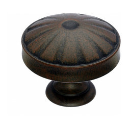 "Top Knobs - Patina Cabinet Knobs, 1 1/4"" - Top Knobs item number M1222 is a beautifully finished Patina Cabinet Knob."