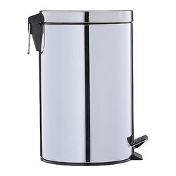 None - Stainless Steel 12.5-quart Step-open Trash Can - Keep your home's garbage contained in this 12.5-quart stainless steel trash can. It features a plastic inner liner to make cleaning it out simple,and it can be opened using a hands-free foot pedal for sanitary reasons and convenience.