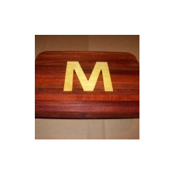 Cutting Board personalized with inlaid Initial -