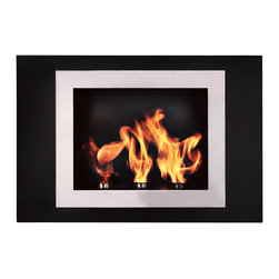 """Bioflame Fiorenzo 13"""" Burner Stainless Steel Wall Mounted 12,000 BTU  Fireplace - 40034001Features:- 12,000BTU or 3.5Kw/h (heats on average 40m2 or 430ft2) - Stainless Steel Firebox Construction - Brushed Stainless Steel Fascia - 13"""" Burner- H 23.8"""" (579mm) W 33.4"""" (849mm) D 6.6"""" (168mm)FuelWant to know something sweet about the ethanol fuel used in Bio Flame fireplaces? It's all based on sugars!That's right, the Bio Flame ethanol fuel is so environmentally friendly that it is created through a fermentation process of sugars, including those from sugar cane, corn, beets, and potatoes. These natural, all-reable resources work together to create an ethanol fuel source that provides not only heat, but a beautiful, dancing flame, as well.Some of the additional benefits of using the Bio Flame ethanol fuel include:Environmentally friendly. Ethanol fuel is all-natural and made from reable resources. This means that you are not cutting down valuable trees that take much longer to regenerate.Better breathing. There is no air pollution with the Bio Flame ethanol fuel. This means that you, as well as everyone else, help to keep chemicals and toxins from being released into the air. You will breathe better in your home, and everyone else benefits from the reduction of pollutants, as well. There's no odor or smoke to worry about, either, providing you with a safe flame.Cleaner source. Ethanol fuel creates a clean heat source, eliminating the need to worry about cleaning soot or ash. Cleaning the Bio Flame fireplace is a breeze.Super simple. The ethanol fuel used in the Bio Flame fireplace is simple to use. Within seconds, you will have it refilled, never having to worry about spills or trekking out into the cold weather for another log.The Bio Flame environmentally friendly fireplaces use ethanol fuel, because it provides a better heat choice for you, and for everyone else. You never compromise on having a beautiful-looking fireplace, warmth, and a beautiful flame. Ethanol fuel """