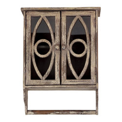 Urban Trends Collection - Wood 2-door Wall Cabinet - Add a unique touch to any room in your home with this 2-door wall cabinet. This wood accent piece is beautiful enough to showcase all on it's own, or you can fill it with your favorite mementos.