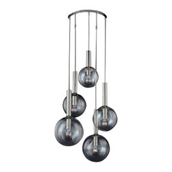 """Sonneman - Sonneman Bubbles 5-Light Pendant - The Bubbles 5-Light Pendant by Sonneman has been designed by Robert Sonneman. The Bubbles 5-Light Pendant this excellent piece from our Pendant;Mini-Pendant; catalog created by Sonneman. It is a Modern / Contemporary; Transitional fixture that is bound to impress. Also, every new Pendant;Mini-Pendant; comes the  60 Watt G25 Medium Base bulb without any additional charge to you.   Product description:  The Bubbles 5-Light Pendant by Sonneman has been designed by Robert Sonneman. The Bubbles 5-Light Pendant this excellent piece from our Pendant;Mini-Pendant; catalog created by Sonneman. It is a Modern / Contemporary; Transitional fixture that is bound to impress. Also, every new Pendant;Mini-Pendant; comes the  60 Watt G25 Medium Base bulb without any additional charge to you.     Details:      Manufacturer:     Sonneman         Designer:    Robert Sonneman        Made in:    USA        Dimensions:     Shade A(1):Diameter:8"""" (20.32 cm ) X Height:22"""" (55.88 cm),       Shade B(2):Diameter:10"""" (25.4 cm) X Height:22"""" (55.88 cm),      Shade C(2):Diameter:12"""" (30.48 cm) X Height:22"""" (55.88 cm), Canopy Diameter:16"""" (40.64 cm)         Light bulb:     5 X G25 Medium Base Max 60W Incandescent (not included)      Material:     Glass"""