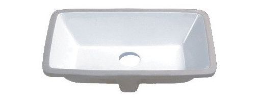 TCS Home Supplies - 21 Inch Porcelain Ceramic Vanity Undermount Bathroom Vessel Sink - Product Features: