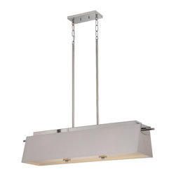 Nuvo Lighting - Nuvo Lighting 62/192 Contemporary Polished Nickel PendantClaire Collection - Claire - LED Island Pendant