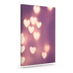 """Kess InHouse - Beth Engel """"Your Love is Electrifying"""" Wrapped Art Canvas (8"""" x 10"""") - Bring your outdoor patio to life with this artistic outdoor canvas wrap featuring gorgeous artwork by KESS InHouse. These canvases are not only easy to hang and remove but also are the perfect addition to your patio collection. These canvases are stretched around a wooden frame and are built to withstand the elements and still look artistically fabulous. Decorating your patio and walls with these prints will add the splash of art and color that is needed to bring your patio collection together! With so many size options and artwork to choose from, there is no way to go wrong with these KESS Canvas Wraps!"""