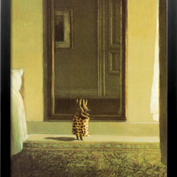 Artcom - Bunny Dressing by Michael Sowa - Bunny Dressing by Michael Sowa is a Framed Art Print set with a SOHO Black wood frame.