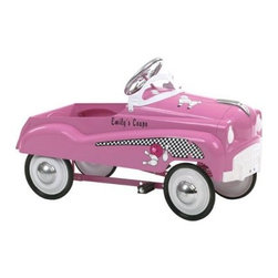 InSTEP Pink Pedal Car - What We Like About the Pink Pedal Car.This toy has a fun classic design for kids who love to race around! Your child will enjoy the classic design and you will appreciate the exercise that your child is getting. The detailed logo really brings it all together. Dimensions: 37L x 17W x 12H inches. Assembly requried. Recommended for ages 3 to 6. Make your little one's day with the Pink Pedal Car a steel-body car that's both durable and cute.