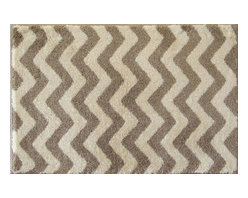 "Grund - Grund Premium Bathroom Comfort Mats-Chevron Series, Light Brown, Large - Trendy and stylish!  The Chevron Series is one of our most popular lines that melts together today's most sought-after pattern with classic colors...a combination that is sure to start your day in style!  Machine tufted.  Comes in three colors and is available in three sizes:  21"" X 24"" small, 24"" X 36"" medium, 24"" X 60"" large."