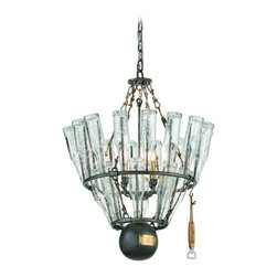 Troy Lighting - Troy Lighting F3944 121 Main Single Tier Chandelier - Wrought Iron Single Tier Chandelier in Old Silver With Bras from the 121 Main Collection by Troy Lighting.