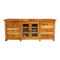 Artisan Home Furniture - Artisan Home Guamuchil 72 Inch Entertainment Console in Natural - Heavy, solid wood provides a rich look with a natural two-tone. finish enhances and protects natural beauty of wood. Comfort and looks that will last a life time. Adds value and completes the Artisan look.