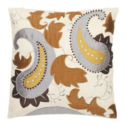 Safavieh Home Furniture - Earth 18-Inch Decorative Pillows Set of Two - - This 18-inch Cream Decorative Pillows (Set of 2) features a metallic earth tones of platinum bronze gold and penny brown are used on a cream background. The beautiful linen and cotton blend pillow is adorned with appliquTs as if a single paisley teardrop surrounded by floating leaves embellished with embroidered wooden beadwork.   - Earth  - Some assembly required - Yes  - Please note this item has a 30-day manufacturer's limited warranty that covers product defects. Inspect your purchase upon delivery and notify us immediately with any concerns. Safavieh Home Furniture - PIL809A-1818-SET2