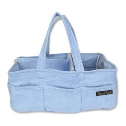 "Trend Lab - Storage Caddy - Blue - Add organization to any area of your home with this portable Storage Caddy by Trend Lab. This solid blue ultrasuede, lightly padded caddy has 8 outer pockets and a removable ""T"" separator for maximum versatility. Keep diapers, wipes and other necessities tidy while traveling from room to room. Caddy also functions as an organizer for crafts, picnics, pet supplies, etc. Measures 13"" x 9"" x 7""."