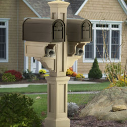 Grandin Road - Rockport Mail Post - Our versatile Rockport Mail Post combines timeless designs from the past with today's innovative technology. This outdoor mail post is ideal for use with multi-family homes or timeshares.Mailboxes are NOT included.