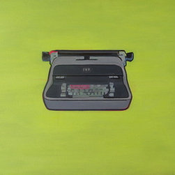 """Iconic Vintage Typewriter Painting"" (Original) By Wyatt Mcdill - This Painting Will Please Anyone Who'S A Writer, Or Has An Eye For Strong Visual Work, Or Who Just Likes Vintage Machines."