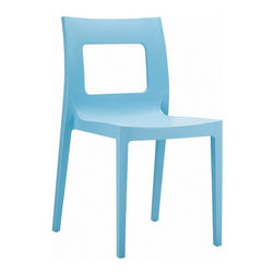 "Compamia - Lucca Dining Chair Blue - Set of 2 - Lucca blue outdoor dining chair from La Maya collection. Made from commercial grade resin with gas injection molded legs. Features pastel colors. So elegant that it is suitable for indoors, so durable that it is used outdoors. Lucca resin stackable chairs are perfect for heavy use areas. Great for outdoor spaces. Preferred by restaurants, cafes and hotels. Plastic resin chairs are stackable. Sold in sets of 4. Color blue.; Made from commercial grade resin with gas injection molded legs, with non-skid rubber caps.; Extremely durable for outdoor temperatures and conditions. Plastic Resin Chairs are preferred by restaurants, cafe's, and hotels; Beautiful Satin Finish. Easy to keep clean.; Perfect for heavy use in any indoor or outdoor areas. Stackable for easy storage.; Residential Use - 2 Years Limited Warranty. Commercial Use - 1 Year Limited Warranty; NO Assembly Required; Country of Origin: Turkey; Dimensions: 17""W x 20""D x 32""H, Seat Height: 17.8"""