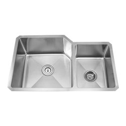 "Kraus - Kraus 32"" Undermount Double Bowl Stainless Steel Sink Combo Set - Add an elegant touch to your kitchen with unique Kraus kitchen combo"