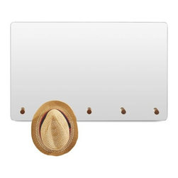 Blu Dot - Blu Dot | Peggy Mirror - Hang on to your hat, or don't, because the Peggy Mirror will hang on to it for you. This clever wall-mounted mirror from Blu Dot is designed with smooth a radius edge and integrated solid walnut pegs to hang your favorite personal accessories. While checking out your reflection, Peggy Mirror holds your leashes, scarves, towels, bags, hats, coats, or more, so you can keep your hands free for primping.