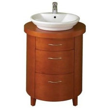 Westbourne 20.125 in. W x 23.75 in. D x 35 in. H Vanity in Cherry with Vitreous
