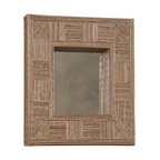 """Linon Home Decor - Linon Home Decor Mosaic Cocostick Rectangle Mirror X-1-TCER708RIM-TIMA - Handcrafted from natural fibers, the Mosaic Cocostick Rectangle Mirror is a work of art. Measuring 25.5""""x29.5"""" this piece is perfect hanging alone or in a group. The simple, versatile design easily complements a variety of d&#233:cor colors and styles. We suggest you consult a professional before hanging."""